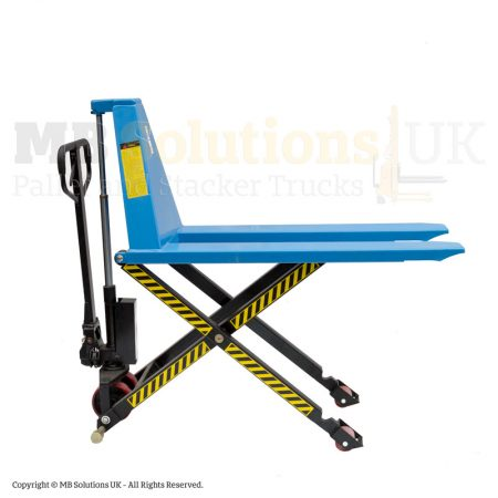 high lift pallet truck side