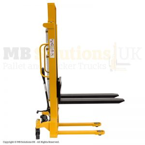 manual stacker double mast side